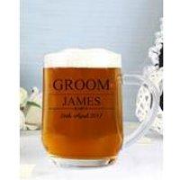 Personalised Mr And Mrs Groom Tankard