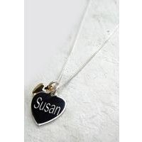 Mini Charm Necklace with Personalised Heart