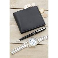 Personalised Wallet, Watch and Pen Set