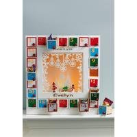 Personalised Light-Up Wooden Advent Calendar