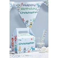 Personalised Robots Bunting