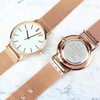 Personalised Ladies Rose Gold Tone Watch