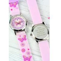 Personalised Kids Time Teacher Butterfly Watch