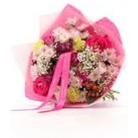 Personalised Birthday Wishes Bouquet With Ribbon