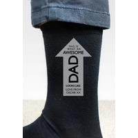 Personalised Awesome Dad Socks