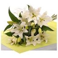 Personalised 5 White Lilies