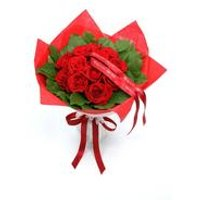 Personalised 12 Luxury Roses And Salal Bouquet
