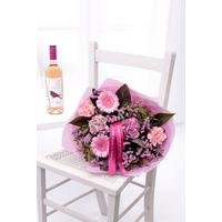Personalised Rose Wine Bouquet