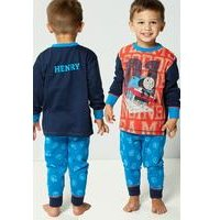 Young Boys Personalised Thomas and Friends Pyjamas