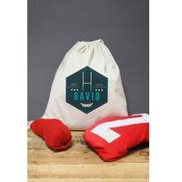 Personalised Blue Rugby Drawstring Kit Bag