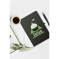 Personalised Golf Green Black Notebook and Ballpoint Pen