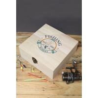 Personalised Fishing Club Wooden Storage Box