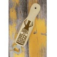 Personalised Beer Season Wooden Bottle Opener