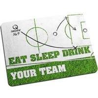 Personalised Eat Sleep Drink Football Mousemat