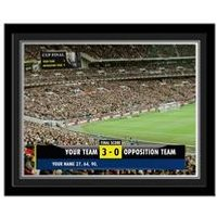 Personalised Football Scoreboard Framed Photo