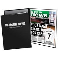 Personalised Football Newspaper Print Folder