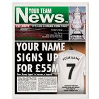 Personalised Football Newspaper Print