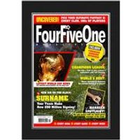 Personalised Football Magazine Front Cover Folder