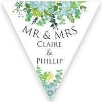 Personalised Botanical Wedding Bunting