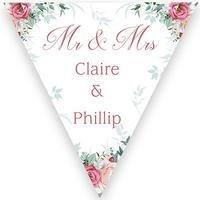 Personalised Floral Wedding Bunting