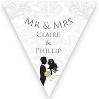 Personalised Silhouette Wedding Bunting