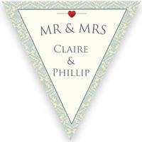 Personalised Happily Ever After Wedding Bunting