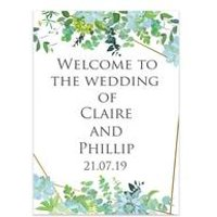 Personalised Botanical Welcome Wedding Sign
