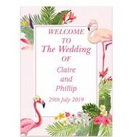 Personalised Flamingo Welcome Wedding Sign