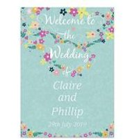 Personalised Love Story Welcome Wedding Sign