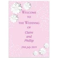 Personalised Pink Spring Blossom Welcome Wedding Sign