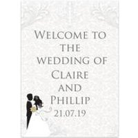 Personalised Silhouette Welcome Wedding Sign