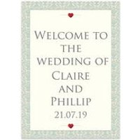 Personalised Happily Ever After Welcome Wedding Sign