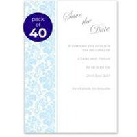 40 Personalised Damask Save The Date Cards
