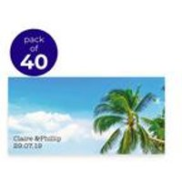 40 Personalised Beach Scene Placecards