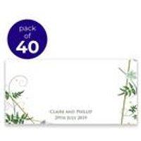 40 Personalised Botanical Placecards