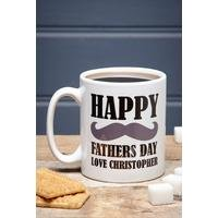 Personalised Fathers Day Moustache Mug
