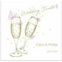 40 Personalised Raise Your Glasses Wedding Invitations