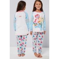Girls Personalised My Little Pony Varsity Style Pyjamas