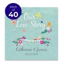40 Personalised Love Story Evening Invitations