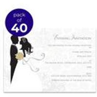 40 Personalised Silhouette Evening Invitations