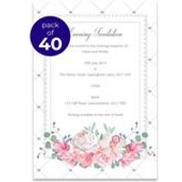 40 Personalised Quilted Evening Invitations