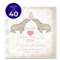 40 Personalised Seal The Deal Evening Invitations