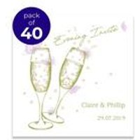 40 Personalised Raise Your Glasses Evening Invitations
