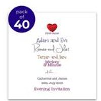 40 Personalised Romeo And Juliet Evening Invitations