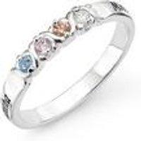Personalised Sterling Silver 4 Birthstone Ring