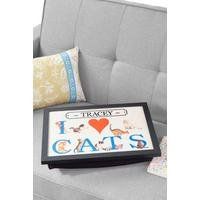 Personalised I Love Cats Lap Tray
