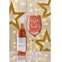 Personalised Hollywood Rose Wine Set