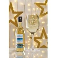 Personalised Hollywood White Wine Set