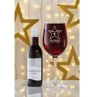 Personalised Hollywood Red Wine Set