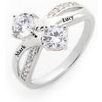 Personalised Silver CZ Infinity Ring